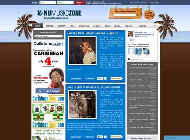 Numusiczone - Caribbean music online
