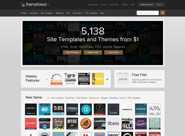 Themeforest - Premium WordPress Themes, Web Templates, Mobile Themes